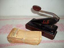 Sielaff-Lochmaschine für Lottoscheine-Locher-Hebel+ Lottoscheine