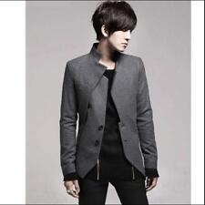 Mens casual Jacket Blazer Coats Wool Blend Two Button suit Fancy Stylish Metro