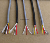 28AWG UL2547 PVC 2/3/4-Cores Shielded Signal Wire Headphone Cable Cord 2M/10M