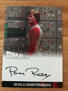 SPACE 1999 SERIES 4: AUTOGRAPH CARD: PAM ROSE AS COMMANDE CENTRE OPERATIVE PR1