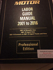 2016 Motor Labor Guide +  FREE Spec Book & F1 ASE - Via USPS Priority