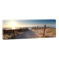 Bilder auf Leinwand Strand Meer Nordsee  Poster Wandbilder XXL 120 cm*40 cm 639