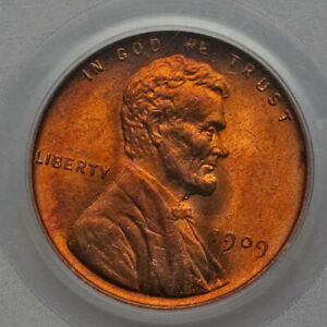 1909 1c PCGS MS65RD Lincoln Small Cent  MS 65 RD Red old blue holder OBH