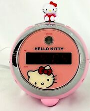Hello Kitty Pink Projection Alarm Radio Clock KT2054