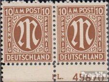 Twee zones (Allied Cast) 6 met Nummerplaat postfris 1945 aan-Post