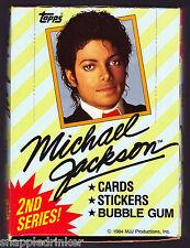 1984 Topps MICHAEL JACKSON 2nd Series Box of Unopened Packs