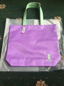 CLINIQUE Tote/Beach Bag in purple & mint Brand New With Tags
