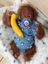 Reborn baby boy Orangutan, 16 inches