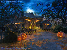 Haunted House Halloween Art Print by Shepherd