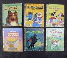 Little Golden Books Bulk Lot Lassie Mickey Mouse Dumbo Zorro The New Puppy Farm