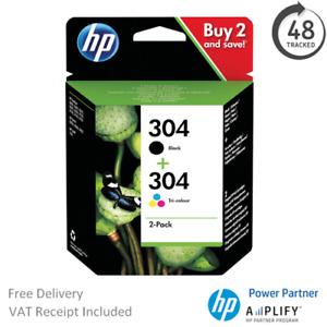 Original HP 304 Black & Colour Ink Cartridge 3JB05AE Multipack N9K05AE / N9K06AE