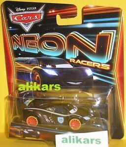 NEON RACERS - LEWIS HAMILTON - British Racer Disney Pixar Cars vehicle new toy