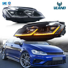 LED Headlights For VW Golf 7 GTI GTD R MK7 2013-2017 DRL Sequential Silver Line