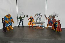 Marvel Select Thanos, ml Adam Warlock, Drax, Silver Surfer, Dr Strange Y Thor