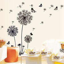 PVC Creative Dandelion Flower Plant Big Tree Home Wall Removable Stickers DIY