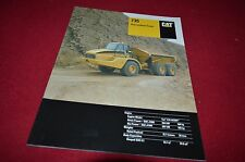 Caterpillar 735 Articulated Dump Truck Dealer's Brochure DCPA8 ver2