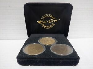 The Highland Mint Sports Collection Mantle/Mattingly/Jeter Mint Coins 020421MGL5