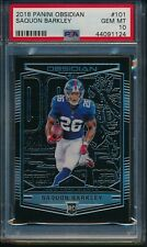 2018 Panini Obsidian #/100 Saquon Barkley (R) #101 PSA 10 GIANTS GEM MINT