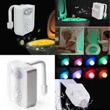 8Colors Toilet LED 4.5V Motion Sensor Lamp Bathroom Seat Aromatherapy Light Lamp