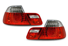 Back Rear Tail Lights BMW E46 Saloon 98-01 In Red-Clear Crystal-Look LED