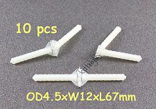 10pcs Super Light Nylon Pivot & Round Hinges D4.5xW12xL67mm RC Plane TH008-00108