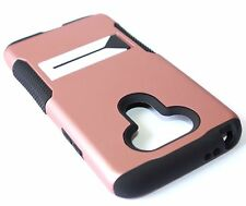For LG G5 - HYBRID SHOCKPROOF HIGH IMPACT CASE COVER ROSE GOLD KICKSTAND ARMOR