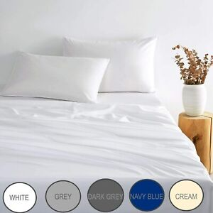 1000TC Ultra Soft Sheet Set -  Fitted Sheet and 2 Pillowcases in All Sizes
