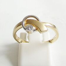 Ring Gold 375 0,045 ct. Brillant Goldringe Brillantringe 9 kt. h Diamantringe