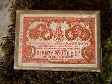Ancienne petite  boite à plumes Blanzy Poure