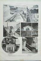Stampa Napoli: Vomero Funicolare Montesanto, Petraio 1893 (P316) Come da foto (l