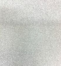 """Sparkle Glitter Vinyl Upholstery Fabric - Sold By The Yard - 54""""- Silver White"""