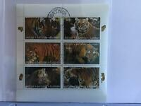 Batum   Majestic Tigers in the Wild stamp sheet R27722