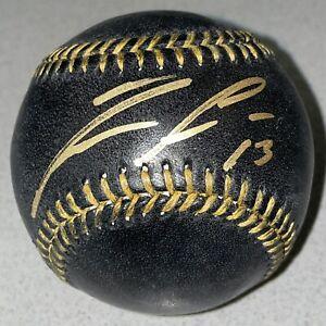 Ronald Acuna Jr. Signed Braves autographed MLB auto black baseball (JSA & USASM)