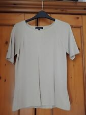 Reflections Ladies Knitted Short Sleeved Beige Top  Size M