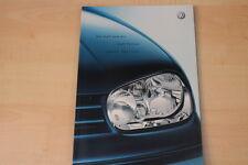 68936) VW Golf IV + Variant Sport Edition Prospekt 10/2002