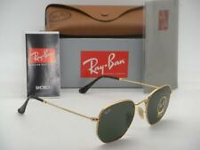 New Authentic Ray-Ban RB 3548N 001 51mm Shiny Gold Frame Flat Crystal Green G15