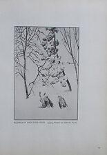 1912 Max Klinger BUZZARDS MIT EINEM TOTEN HASEN alter Druck old print