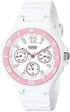 Casio LRW250H-4A Ladies White & Pink Sports Watch 100M Day/Date Rotating Bezel