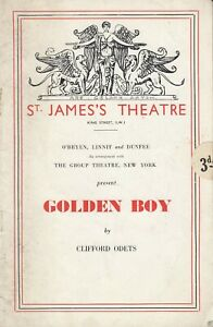 St James Theatre 1937/8 Golden Boy by Clifford Odets CAST SIGNED AUTOGRAPHED