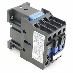 Baomain AC Contactor CJX2-1810 220V 50/60Hz 660V 18 Amp 3 Phase 3-Pole NO DIN...