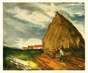 """Maurice Vlaminck lithograph by Mourlot """"Haystack"""""""