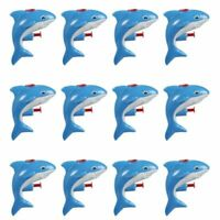 12-Pack Mini Animal Squirt Guns, Blue Shark Toys for Kids, Ages 6 and Up