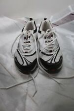 Athletech Men's White Black Athletic Running Walking Lace Up Sneaker Shoes Sz 9