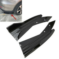 2PCS Glossy Black Car Rear Lower Bumper Diffuser Fin Spoiler Lip Wing Splitter