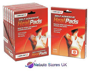 Masterplast Self Adhesive Heat Pads Pack Deep Muscle Back Joint Pain Relief