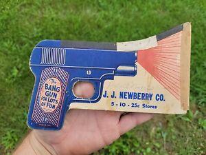 Vintage Paper Bang Gun Advertising J.J. Newberry 5c 10c 25c Store Stroudsburg PA