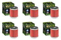 Yamaha YZF 450 2009 - 2019 Oil Filter Set HiFlofiltro HF140 Pack of 6