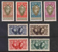 Liechtenstein 82-89 complete set (SCV$557.50+) VF LH or NH, 1928