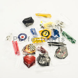 30 Darts Flights + 30 Darts Stems Shafts Mixed Colours / Sizes 10 Sets of Each