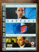 Gattaca DVD 1997 Cult Film Classico W / Ethan Hawke IN Super Gioiello Custodia